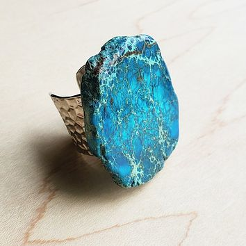Blue Regalite Chunky Ring
