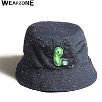 2017 Two Side Reversible Bucket Hat Unisex Fashion Alien Caps Hip Hop Gorro Men Summer Caps Beach SunSunscreen Banana Bucket Hat