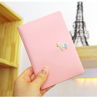 KUDIAN BEAR New Arrival Candy Color Passport Cover Cute Credit Card Holder PU Leather Passport Holder Travel Wallet--BIY013 PM30
