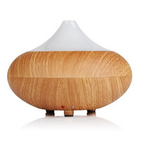 VicTsing Aromatherapy Cool Mist Humidifier with 7 Color LED Lights, Wood Grain, 140ml