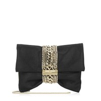 Black Shimmer Suede Luxury Clutch Bag | Chandra | JIMMY CHOO Evening bags and clutches