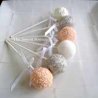 Cake Pops: Wedding Cake Pops Made to Order with High Quality Igredients