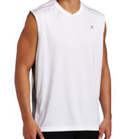 Champion Men's Intent Muscle Tee, White/Carbon, X-Large