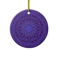 Purple Metallic Christmas Ornament