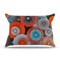 "Heidi Jennings ""Breaking Free"" Orange Blue Pillow Sham"