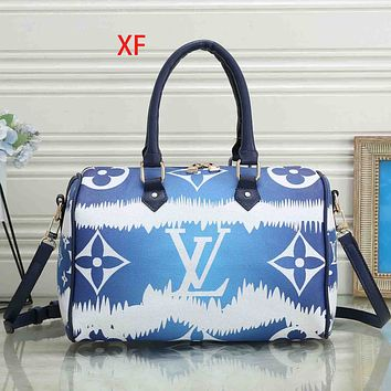 Onewel LV Bag Louis Vuitton Big Monogram Gradient Print Handbag Crossbody bag Blue