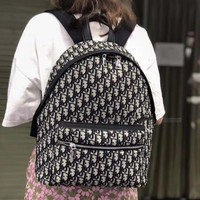 Dior 2019 new canvas D letter printed backpack