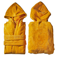 VERSACE MEDUSA BATHROBE with Hoodie Gold  Size S-M Hooded