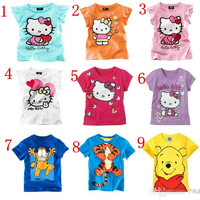 Children Clothes 2014 summer Boys and girls Short sleeve T-shirt Children's T-shirts Baby leisure T-shirt.