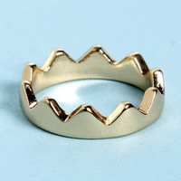 Crown-ton Abbey Gold Crown Knuckle Ring