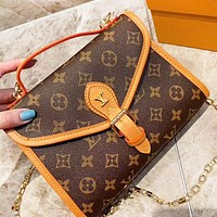 Louis Vuitton LV Fashion Monogram Print Leather Shopping Leisure Chain Shoulder Bag Crossbody Bag Women