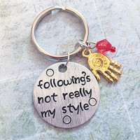 Following's Not Teally My Style Quote Keychain - Superhero Jewelry - Avenger Accessories - Tony Stark Keychain - Iron Man Inspired
