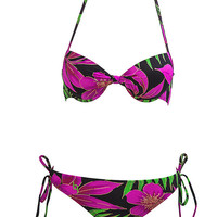 Floral Two-Piece Classic Bikini Bikinis Swimsuit Bathing Suit Swim Beach Beachwear Outfit Surf Surfer OOTD Fashion Style S M L