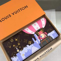 Kuyou Gb1986 Louis Vuitton Lv M61359 Balloons And Iconic Louis Vuitton Prints Leather Wallet Vertical  19.0 X 10.5 X 2.0 Cm