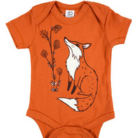 autumn baby clothing, baby onsies, fall baby clothes, autumn baby girl clothes, fall baby clothes, autumn themed baby shower gift, fox baby