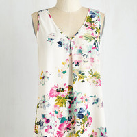 Mid-length Sleeveless Flow and Tell Top by ModCloth