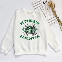 Slytherin quidditch Sweatershirt inspired Men Women slytherin quidditch team printed Sweatershirt Hoodie Streetwear