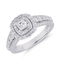 double princess ready for love diamond engagement ring Steven Singer Jewelers