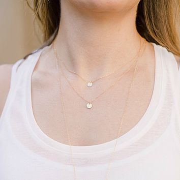 Double Layered Coin Necklace Set