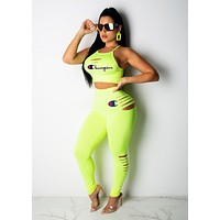 '' Champion '' New Popular Women Matching Sleeveless Top Trousers Set Two-Piece