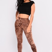 Dye Me Up Print Leggings - Brown