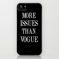 More than Vogue iPhone & iPod Case by Kai Gee