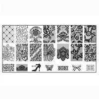 1PC Women Nail Art DIY Nail Stamp Stamping Image Plate Print Nail Art Template strongly from inside to outside Anne