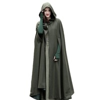 Winter Cloak Hooded Vintage Gothic Cape Poncho