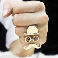 Cute Chaplin Adjustable Ring