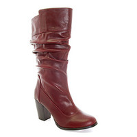 Wrinkled Boots in Soft Wine colour | - www.alonai.com - 89.99 $