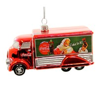Holiday Ornaments COCA-COLA TRUCK Glass Christmas Coke Is It! Cc4151