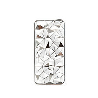 Grey metal faceted iPhone 5 case