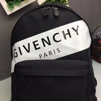 HCXX 19June 657 Givenchy letter Classic Causla Fashion Traveling Mountaineering Canvas Backpack