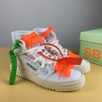 [Free Shipping ]Off-White CO Virgil Abloh 18SS Low Basketball  Sneaker