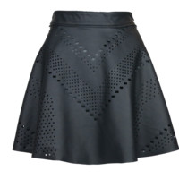 Laser Cut Leather Skirt