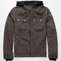 Fox Fremont Mens Hooded Jacket Charcoal  In Sizes