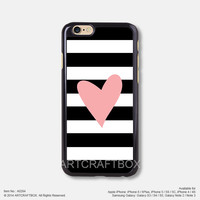 Pink Heart Black Strip Free Shipping iPhone 6 6Plus case iPhone 5s case iPhone 5C case 284