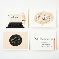 Set Of Four 'Hello' Cards