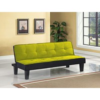 """Cheap Furniture - 66"""" X 29"""" X 28"""" Green Flannel Fabric Adjustable Couch"""