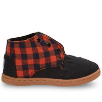 Rust Flannel Tiny TOMS Paseo Mids