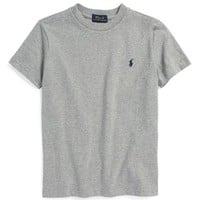 Boy's Ralph Lauren Cotton Crewneck T-Shirt,