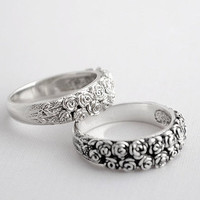 Sterling Silver Ring Roses