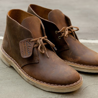 CLARKS Desert Boot Leather - Beeswax   Boot   Kith NYC
