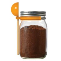 Jarware Mason Jar Re-Purposing Coffee Scoop Spoon Lid - Fits Wide Mouth Jars