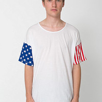 American Apparel - Stars and Stripes Printed Le New Big Tee
