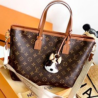 Hipgirls LV Fashion New Monogram Print Leather Shoulder Bag Crossbody Bag Handbag