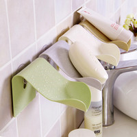 Simple Chic design Wall Mounted Soap Storage Shelves Sponge holder with Suction cup for Barthroom & Kitchen Soap Holder