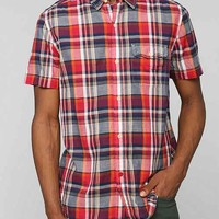 CPO Raaby Plaid Breezy Button-Down Shirt- Red