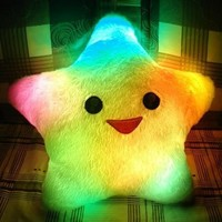 Star shaped LED cushion pillow colorful battery powered