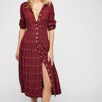 Diamond Head Embroidered Shirt Dress